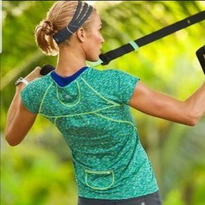 •Athleta• Green Pop Space Dye Tee